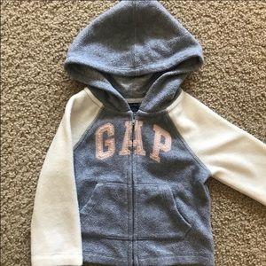 Baby Gap Girls 12-18 Month Sweatshirt Gray Pink